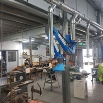 Men's Shed installs Ezi-Arm and eCONO 4000 to deal with dust collection