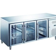 3 Glass Door Undercounter Refrigerator