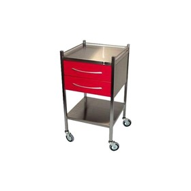 SS11C-RED-COVID-19 – 2 Drawer Dressing Trolley