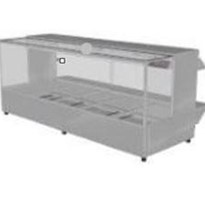 Woodson 5 Module Hot Food Display Square Glass - W.HFSQ25