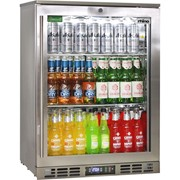 Rhino Stainless Steel 1 Door Triple Glazed Glass Bar Fridge |SG1R-SQ
