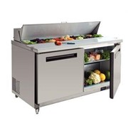 Prep Fridges | Polar 2 Door Stainless Steel Preparation Counter