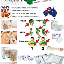 Wound Bandages, Crepe Bandage, Plaster, Elastic and Dressings