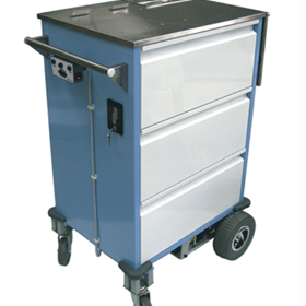 Battery Powered Electric Motorised Medication Cart Trolley | Lockwood