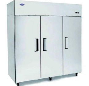 Atosa Top Mounted 3-Door Stainless Steel Refrigerator