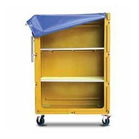 Poly laundry/linen tallboy trolley with shelves POLYTROLLEY1360