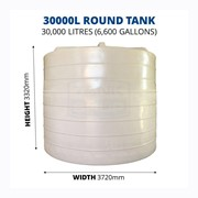 30000 Litre Round Poly Water Tank