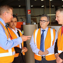 Federal ministers visit Allplastics facilities