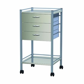3 Drawer Powder Coated Instrument Trolleys | AX 349