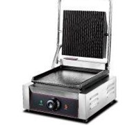 Electric Panini Single Flat Base Contact Grill