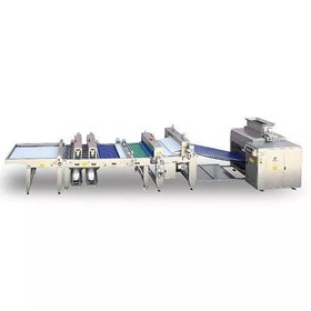 6 Lanes Dough Divider & Rounder Machine with Moulder, Topping and Tray