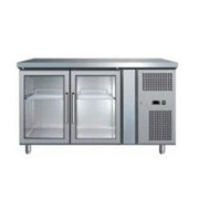 Dual Glass Door Undercounter S/steel Chiller