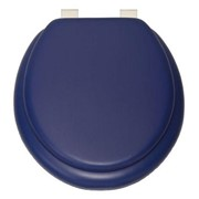 TOILET SEAT CUSHN SOFT ROYAL BLUE