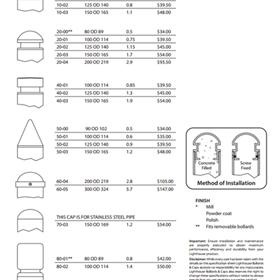 Lighthouse Bollards & Caps: Bollards, flexible bollards,