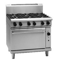 Waldorf RN8610G 6 Burner Gas Cook Top Static Oven - 900mm