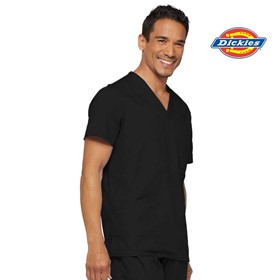 81906 EDS Mens V-neck Utility Medical Scrub Top with 3 Pockets ID Loop