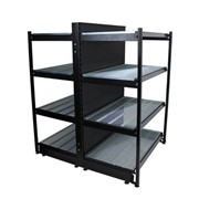 Gondola Shelving Bay | Liquor Outrigger - 1000L x 1500H With Backpanel