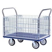 Sitepro Large Single Deck Platform Trolley with Wire Sides