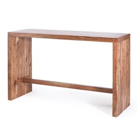 Timber Bar Table and Chairs | Acacia Slab End Bar