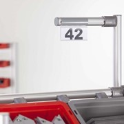 Industrial Shelving Label Holder | D30-100 Flex, Transparent