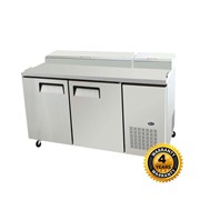Snowman 2 Door Salad/Pizza Prep Bench | SLB-1701