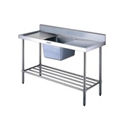 Stainless Steel Sink Bench with Splashback | Simply Stainless