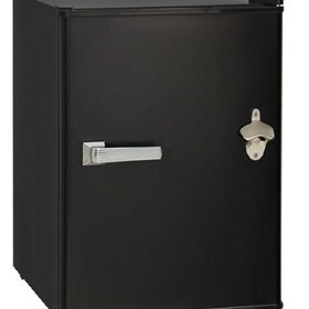 Retro Black Small Vintage Mini Bar Fridge 46 Litre Schmick Brand