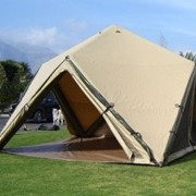 Cutting edge air beam technology for portable inflatable shelters