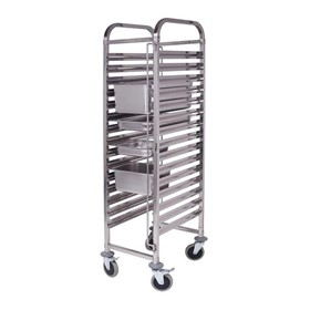 Gastronorm Trolley 15 Tier Stainless Steel Trolley Suits GN 1/1 Pans