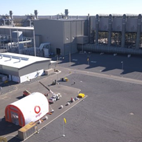 Origin Energy's big shutdown required a big inflatable