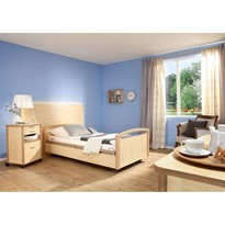 Aged Care Beds | Sentida 03 K Maple/Havanna 4part rails