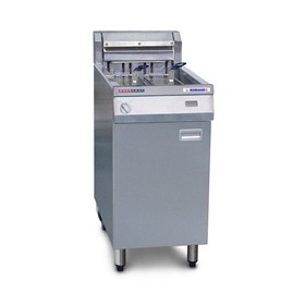 Single Pan Two Basket Floor Model Deep Fryers