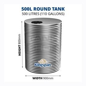 500 Litre Round Aquaplate Steel Water Tank