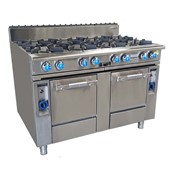 Oxford 8 Burner Cooktop With Two Gas Ovens | Commercial Ovens