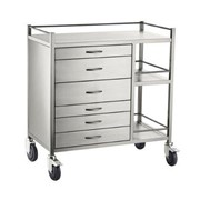 Anaesthesia Cart | S/S 6 Draw 90x50x97cm