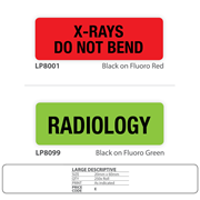 X-Ray Identification Labels - Large Descriptive