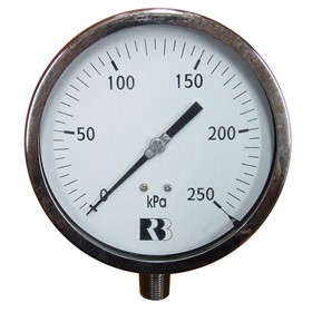 150mm Stainless Steel Lower Mount Pressure Gauges
