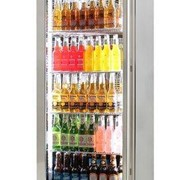 Rhino Stainless Steel Commercial Upright Triple Glass Door Bar Fridge