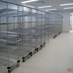 IntraSpace- IntraMed Overhead Track Wire Shelving