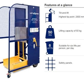 Manually Operated Bin Lifter |  Electrodrive Ecolift Bin Lifter