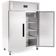 Polar 2 Door Upright Freezer 1200Ltr Stainless Steel | DL896-A