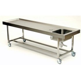 Autopsy Table | ST 10/500 Moveable with Stainless Steel Substructure