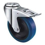 Blue Rubber Castor | TE21ENR_HB | Castors & Trolley Wheels
