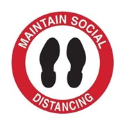 Floor & Carpet Marking Sign - Maintain Social Distancing | 879264