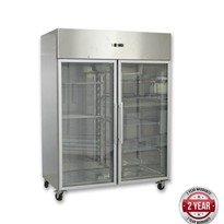 F.E.D Thermaster Grand Ultra 1200L Two Glass Doors Upright Fridges