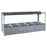 Square Glass Hot Food Display Bars | S25RD