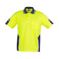 Hi-Vis WorkWear | Syzmik Mens Hi Vis Squad Polo - Short Sleeve
