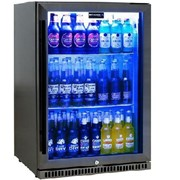 Schmick Black Stainless Steel Bar Fridge SK118R-BS