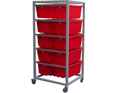 Bin Rack Trolley With IH051 Bins