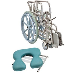 Juvo Shower Commode Chair Folding Self-Propelled Swing-away Footrest
